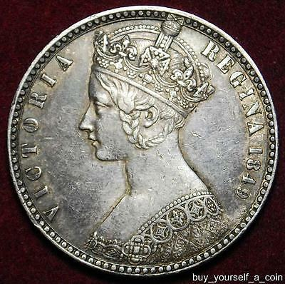 Victoria silver `Godless` florin 1849 WW - nicely toned