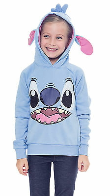 Disney Stitch Costume Sweatshirt Hoodie with Ears Blue