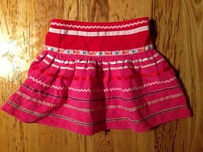 Albetta age 2-3 years pink skirt girls embellished cord vgc