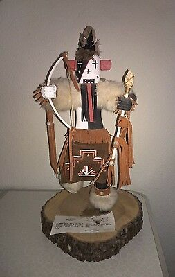 Gorgeous Native American AZ Hopi Indian Kachina Doll Warrior by Vera Hudson COA