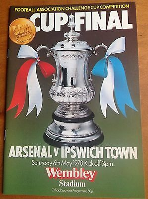FA Cup Final 1978 programme Arsenal v Ipswich