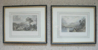 A Pair of Thomas Allom Vintage Prints Loch Leven and Loch Linnhe