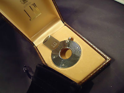 Dunhill CIGER CUTTER - Silver Plated - Vintage Late 1970's - Cased