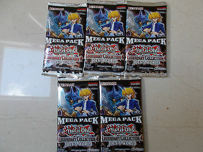 YuGiOh! LEGENDARY COLLECTION 4 MEGA-PACK  - NEW/SEALED YuGiOh BOOSTER PACK X 5