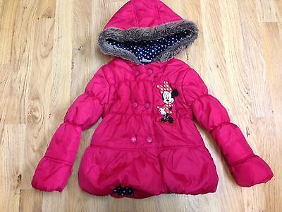 Minnie Mouse Disney Padded Coat Age 4-5 Years