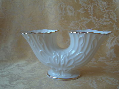 """Vintage Lenox """"Gemini"""" Double Vase  Hand Decorated with 24K Gold - Made in USA"""