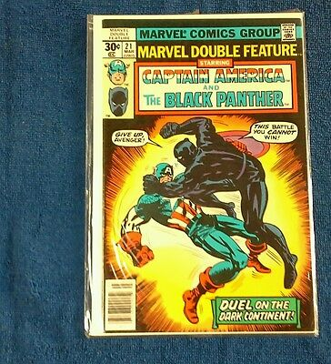 Marvel Double Feature # 21  Captain America and the Black Panther