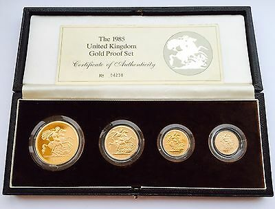 1985 Royal Mint Gold Proof Four Coin Set