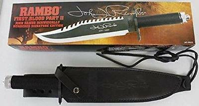 Rambo First Blood  II Signature Autograph Bowie Edition Licensed Survival Knife