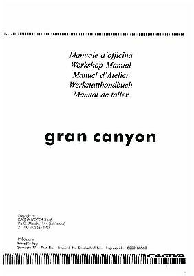 Cagiva Gran Canyon Workshop Service Manual
