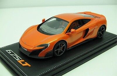 2015 McLaren 675LT in Orange Resin Model by Tecnomodel Diecast Model