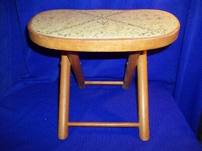 Vintage NEVCO Foldn' Carry Stool, Patented, Made in Yugoslavia