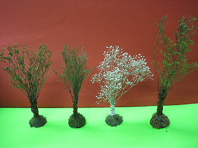 TREES (Scratch-built) HO scale LOT of 4