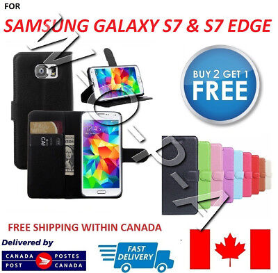 Samsung Galaxy S7 New Pouch Flip Cover Wallet Leather Phone Case ( card holder )