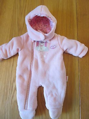 """Baby Annabell  Pink Snow Suit, Zapf Creation 18"""" Doll Outfit Onesie"""