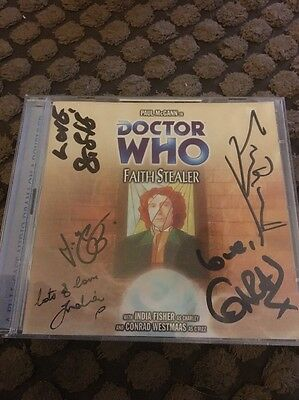 Doctor Who Faith Stealer Big Finish CD SIGNED by INDIA FISHER, CONRAD WESTMAAS