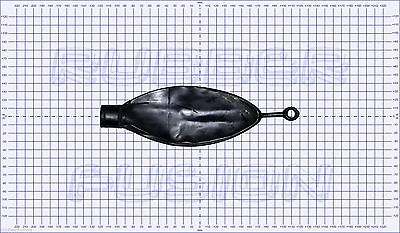0.5L Rebreather Bag + Connector Choice - Rubber Latex Gas Mask Respirator