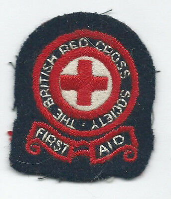 British Red Cross Cloth Badges First Aid 1