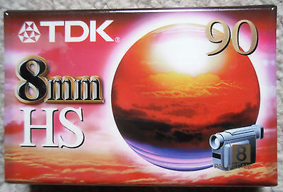 TDK HS 90 CAMCORDER TAPE - Brand New & Sealed - 8mm - Hi8 - P5-90