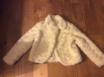 Lovely Girl's Marks and Spencer fur coat - Age 11-12 years
