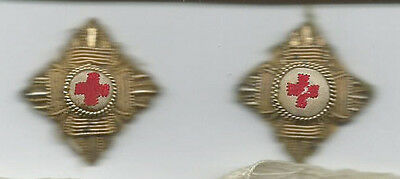 Red Cross Cloth Pips x2