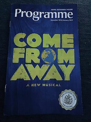 COME FROM AWAY Programme Playbill Newfoundland Musical  Pre-Broadway Toronto