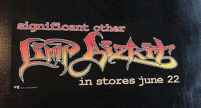 """Limp Bizkit Significant Other 1999 original In Stores promo poster 8""""X20"""" NMNT"""