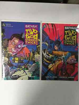 Dc Batman-Two Face Strikes Twice Book One And Two!-Free Shipping