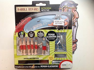 New Horrible Histories Roman Gladator! Rotten Roman Battle Pack Figures.