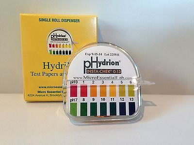 Micro Labs Hydrion pH Test Paper Strip Roll, #93 - 0-13 Range w/ Dispenser