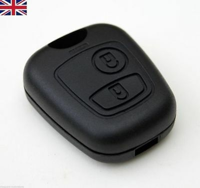 NEW 2 Button Remote Key Fob Case Shell Cover Repair fits Peugeot 206