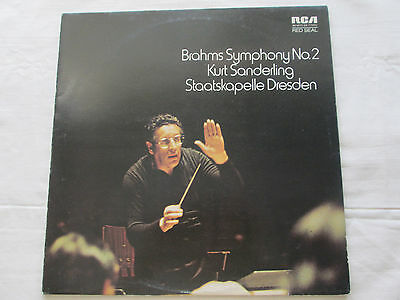 Brahms Symphony No.2 Kurt Sanderling Staatskapelle Dresden 1973 Rca Red Seal