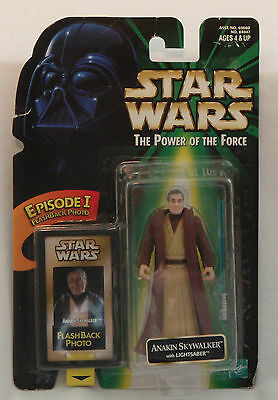 Star Wars Anakin Skywalker Action Figure with Flashback Photo and Lightsaber