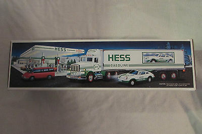 1992 Hess Toy Truck 18 Wheeler and Racer NIB FREE SHIPPING