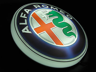 Alfa Romeo Large Led 2Ft Illuminated Garage Wall Light Sign Tools 155 Giulia