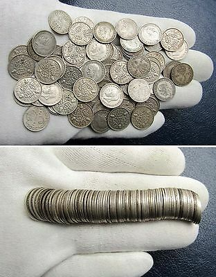 78x George V 50% Silver Threepence's - Scrap or Collect   1.74450oz Troy