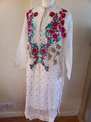 BNWT Agha Noor Pakistani kurta Cotton Net with slip