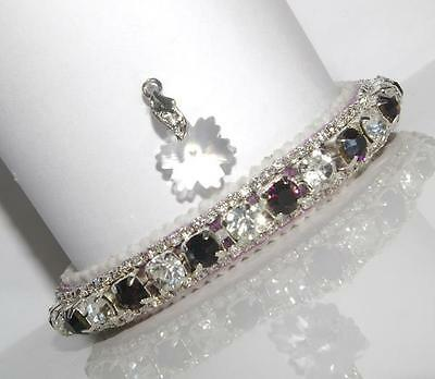 WINTER WONDERLAND DARK AMETHYST & DIAMOND made with SWAROVSKI CRYSTAL CAT COLLAR