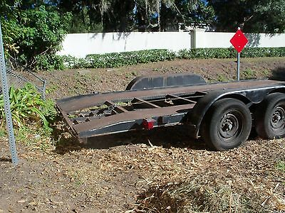 car trailer--16x7 dual axle,,NOT homebuilt