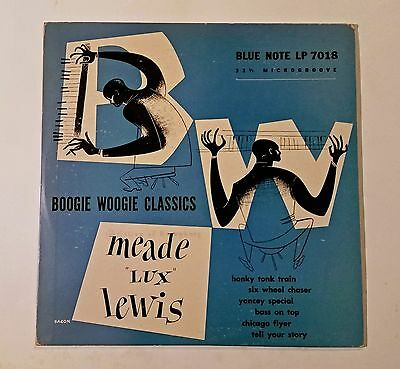 """Meade Lux Lewis, Boogie Woogie Classics on 10"""" Original US Blue Note Label"""