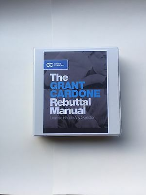 Grant Cardone Rebuttal Manual/mastering Objections 257 Book