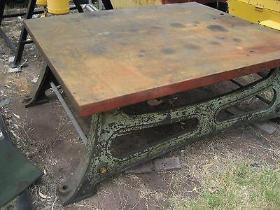 Metal workshop table  ( Once a marking out table)