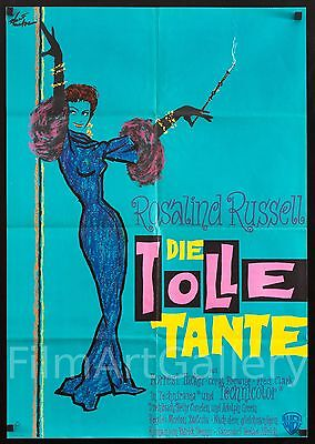 """AUNTIE MAME 1960 rare amazing 23""""x33"""" Rosalind Russell poster Film/Art Gallery"""