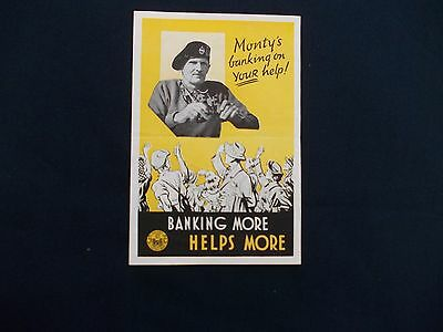 WW2 Home Front (1939-1945) Leaflet Monty's banking on your help
