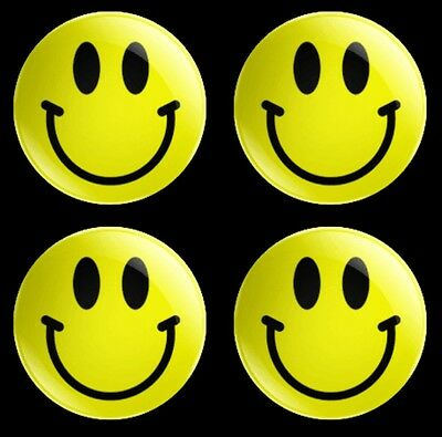 set of 4 x 30mm Smiley Face theme button badges