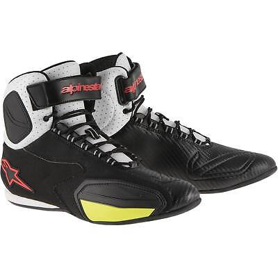 New Alpinestars Faster Vented Adult Shoes, Black/White/Red/Yellow, US-9
