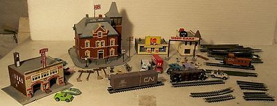 N Scale Built Buildings Track City Hall Freight Cars etc.......Scroll Down