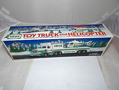 1995 Hess Toy Truck and Helicopter Collectible