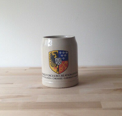 Vintage Armed Forces Recreation Center Ceramic Beer Mug 0.5l Germany Munich 80s