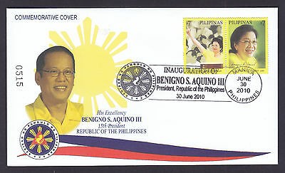 Philippines Stamps 2010 President Aquino Inauguration Limited Edition FDC